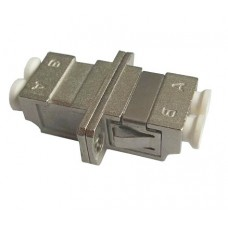 LC Duplex Metal Fiber Optic Adapter