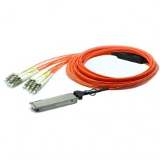 50M QSFP+ to 8 LC Breakout Active Optical Cable / AOC Cable