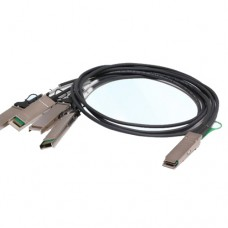 1M QSFP+ to 4 XFP Copper Breakout Cable, AWG30, Passive