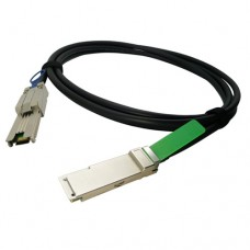1M QSFP+ to MiniSAS(SFF-8088) DDR Cable, AWG30, Passive