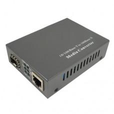 10/100M Fast Ethernet 1 SFP Slot & 1 RJ45 Port SFP Media Converter