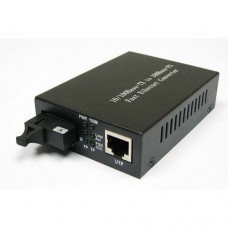A Pair of 10/100M Single Fiber 1-port SC/ST/FC & 1-port RJ45 BIDI WDM Fiber Media Converter