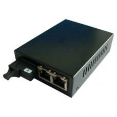 A Pair of 10/100M Single Fiber 1-port SC/ST/FC & 2-port RJ45 BIDI WDM Fiber Media Converter