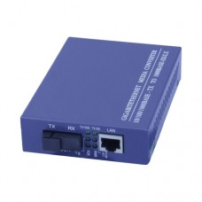 A Pair of 10/100/1000M Single Fiber 1-port SC/ST/FC & 1-port RJ45 BIDI WDM Fiber Media Converter