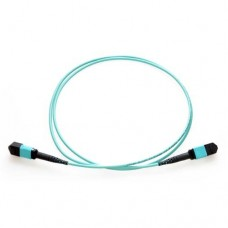 24 Fiber MTP / MPO OM3 50/125 Multimode Fiber Optic Patch Cable