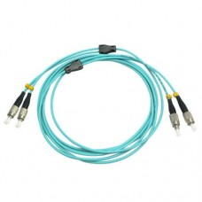 Armored Duplex OM4 50/125 Multimode Fiber Optic Patch Cable
