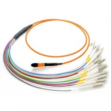 12 Fiber MTP / MPO OM2 50/125 Multimode Fiber Optic Patch Cable