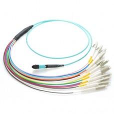 12 Fiber MTP / MPO OM3 50/125 Multimode Fiber Optic Patch Cable